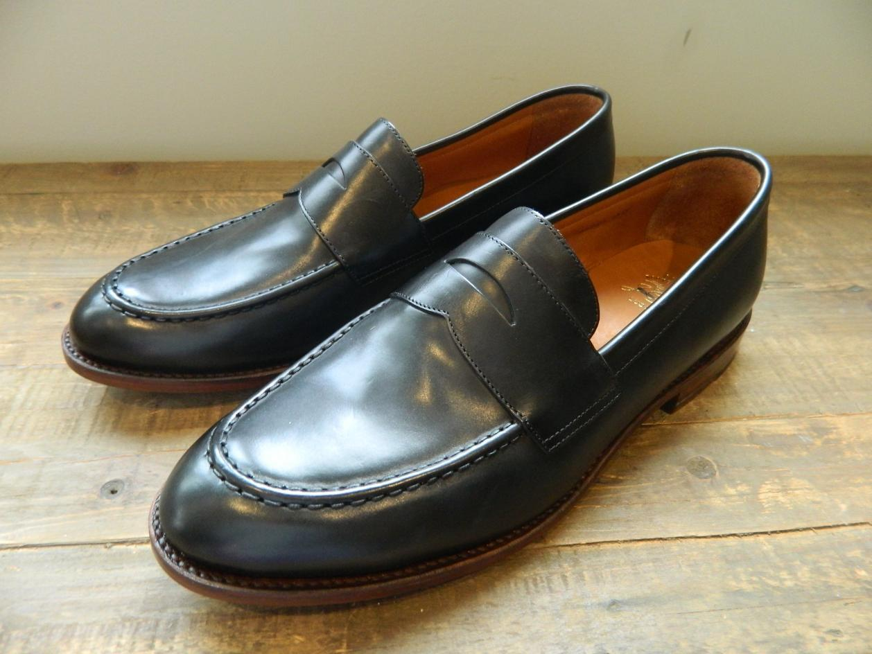 e078c61bf76 Details about JCrew  288 Ludlow Penny Loafers 9 Black Mahogany Leather Shoes  A4362