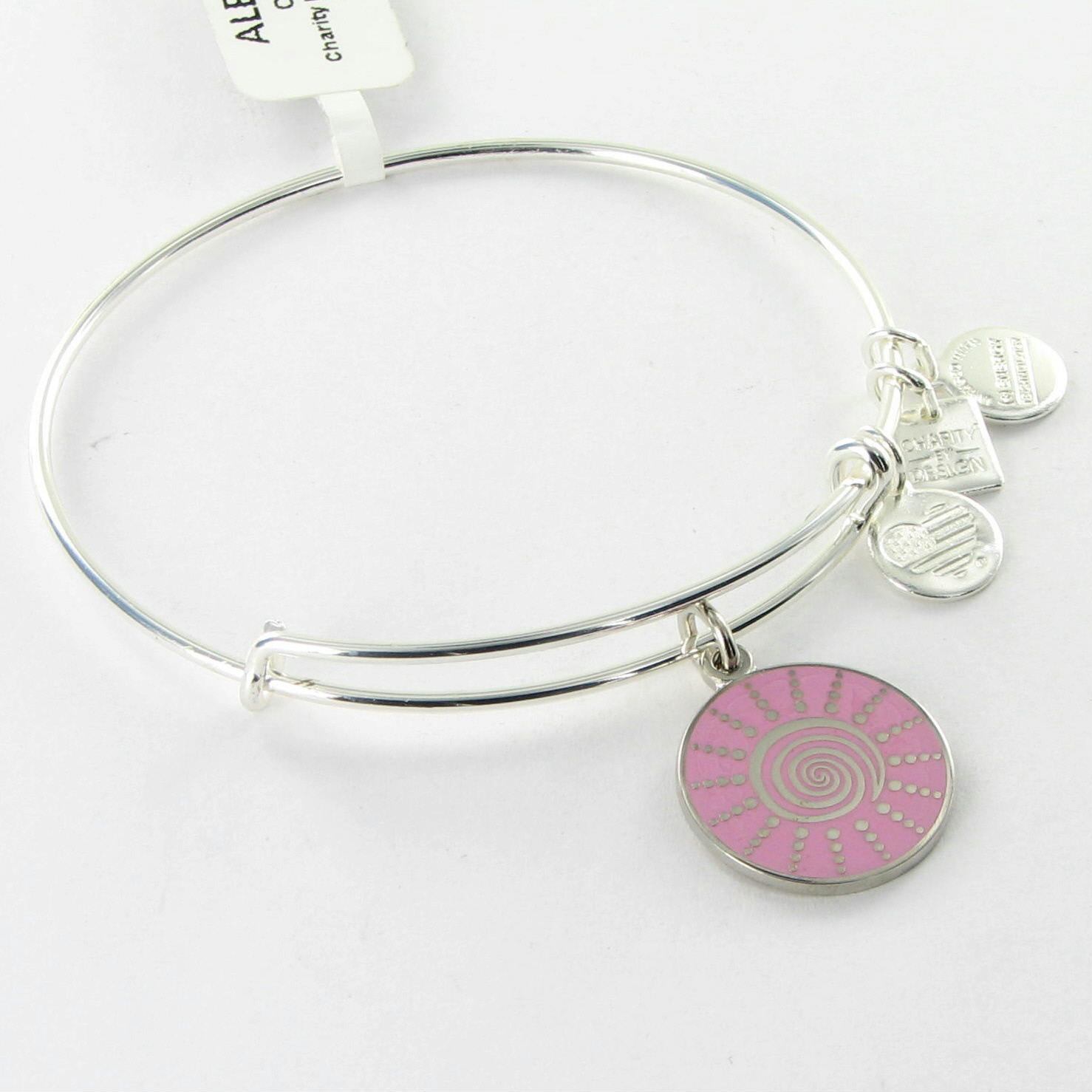 silver breast cancer bracelet bangle jpg 422x640
