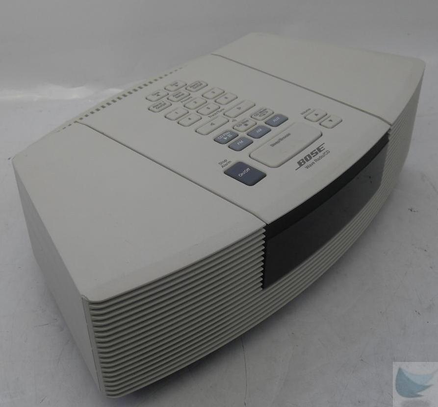 bose awrc 1p wave radio cd player white tested working. Black Bedroom Furniture Sets. Home Design Ideas
