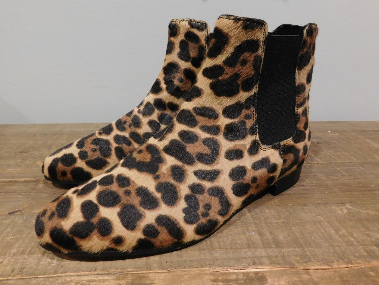 c493a4224ec89 JCREW $318 Chelsea calf hair Ankle Boots 6 hazelnut leopard shoes winter  e4604. NEW J Crew