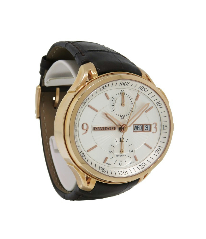 davidoff very zino 20332 men 039 s oval automatic 18k chronograph davidoff very zino 20332 men s oval automatic 18k chronograph day date watch