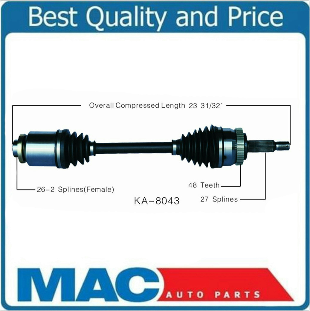 front passenger side cv axle shaft for hyundai tucson kia