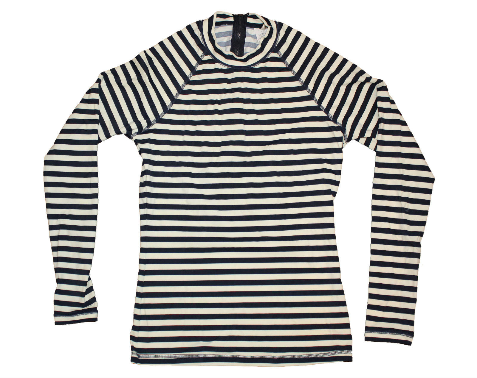 jcrew stripe rash guard swim shirt coverup upf c3161 75 navy ivory xs ebay. Black Bedroom Furniture Sets. Home Design Ideas