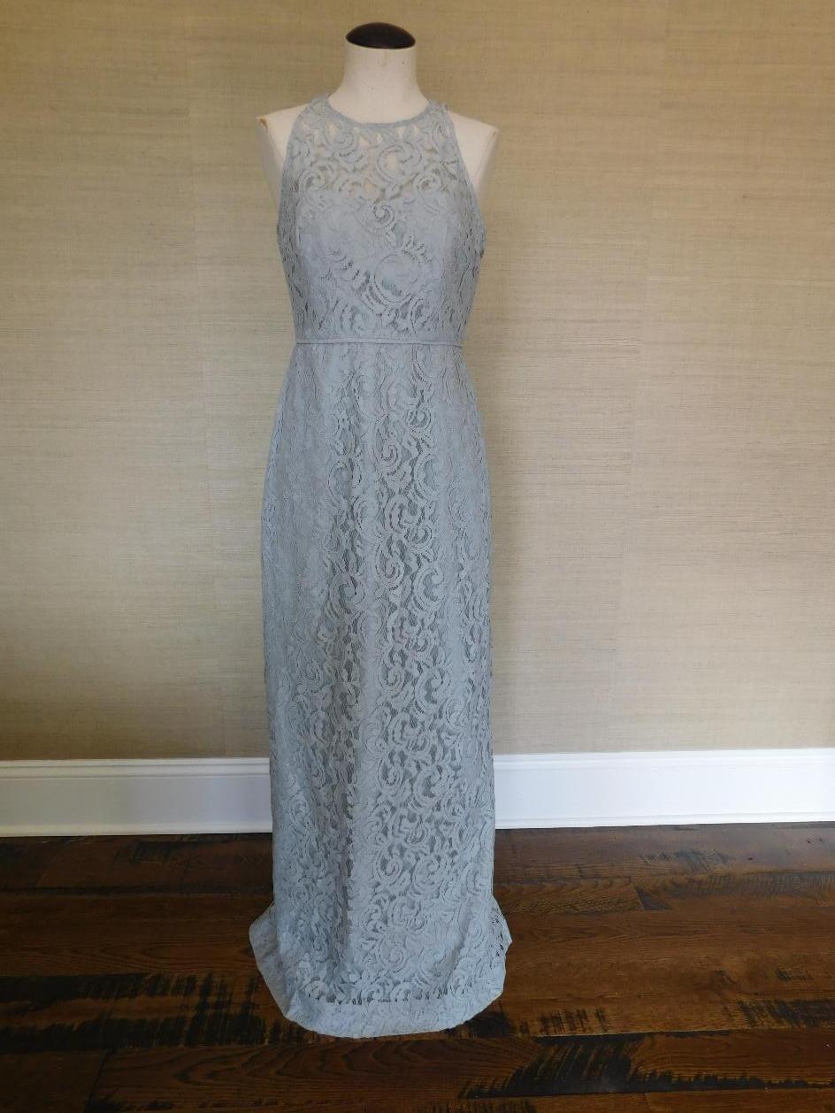 JCREW Pamela Gown Leavers Lace 0 $365 classic grey c5557 long dress ...