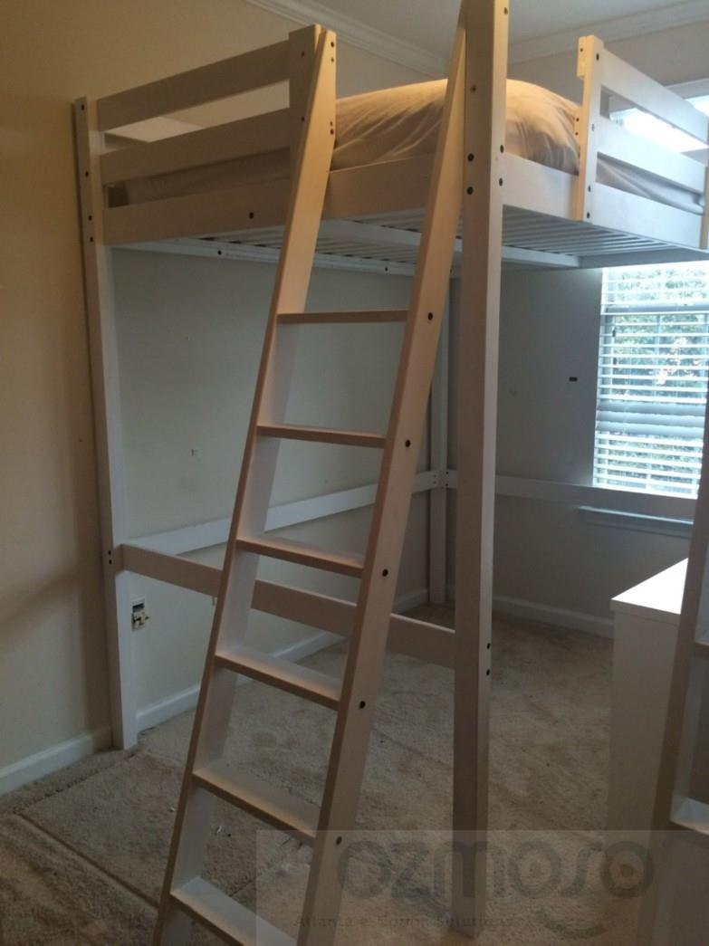 details about ikea stora loft full double size kids white bunk bed