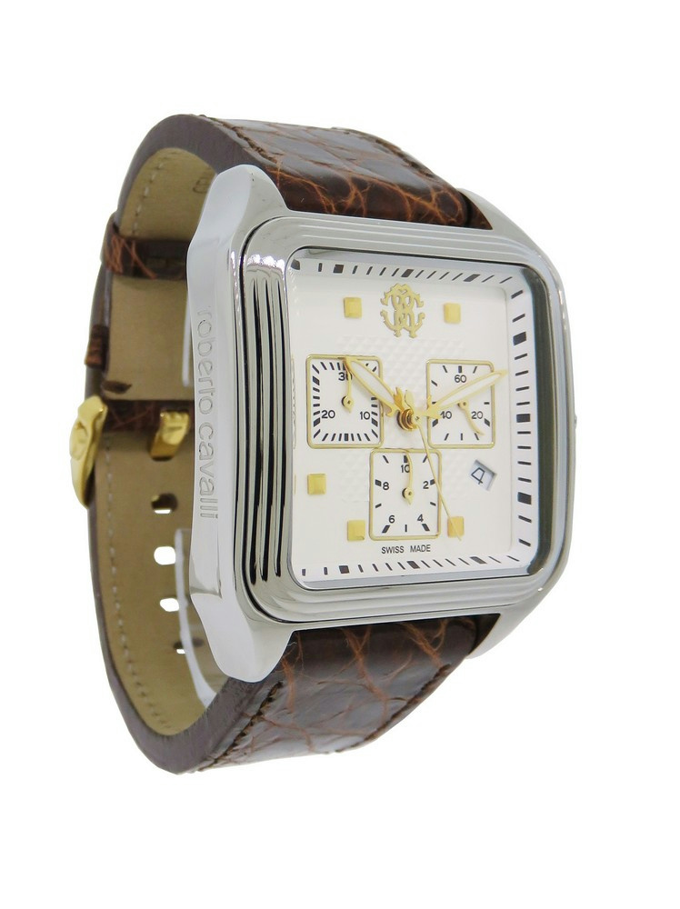 3226783c590 Details about Roberto Cavalli R7251692045 Venom Men s Analog Chronograph  Date Crocodile Watch