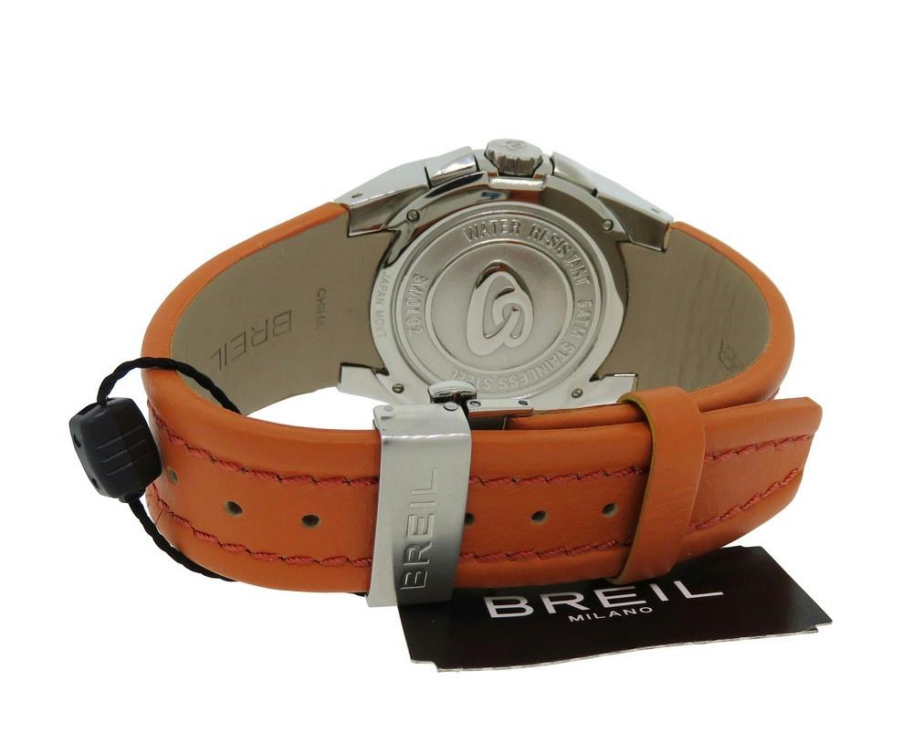 Breil bw0102 wonder reloj hombre cronometro piel naranja