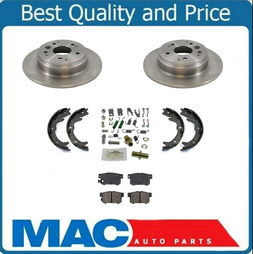 Rear Rotors Brake Pads Shoes Springs For Acura TL S 04-08