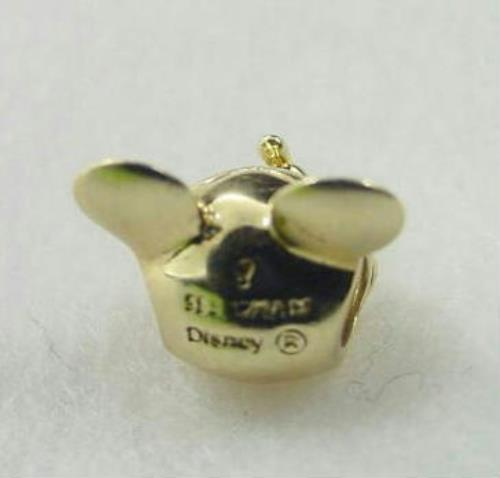 Mickey Mouse Charm Bracelet: Disney Chamilia 14K Gold Mickey Mouse W Diamond Eyes 3D