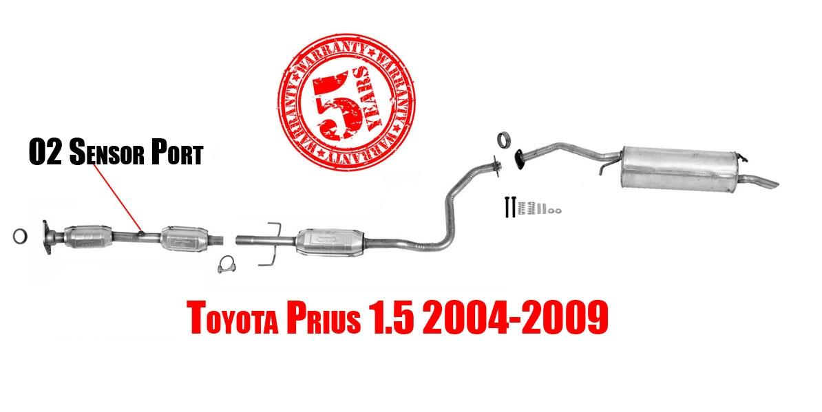 California Legal Catalytic Converter >> New Front Catalytic Converter Resonator & Rear Muffler for Toyota Prius 04-09 | eBay