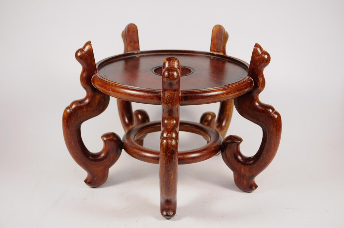 Oriental rosewood large fish bowl stand ebay for Fish bowl stand