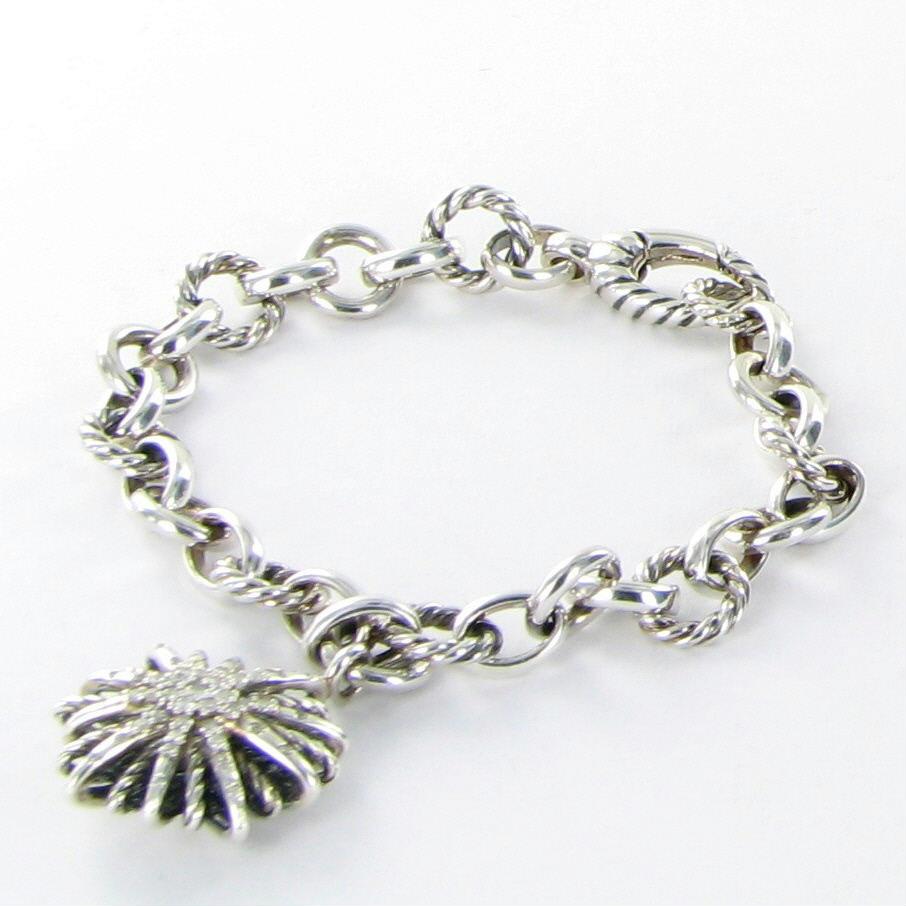 david yurman bracelet starburst charm chain 0 32cts