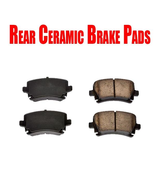 Front /&Rear Ceramic Brake Pads For Audi A3 TT Quattro VW Jetta GTI Passat CC EOS