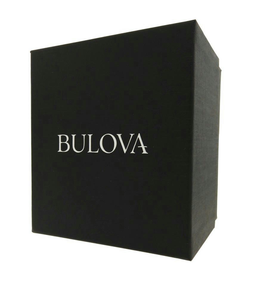 3 of 4 Bulova 96P118 Women's Diamond Tonneau Leather Stainless Steel  Automatic Watch