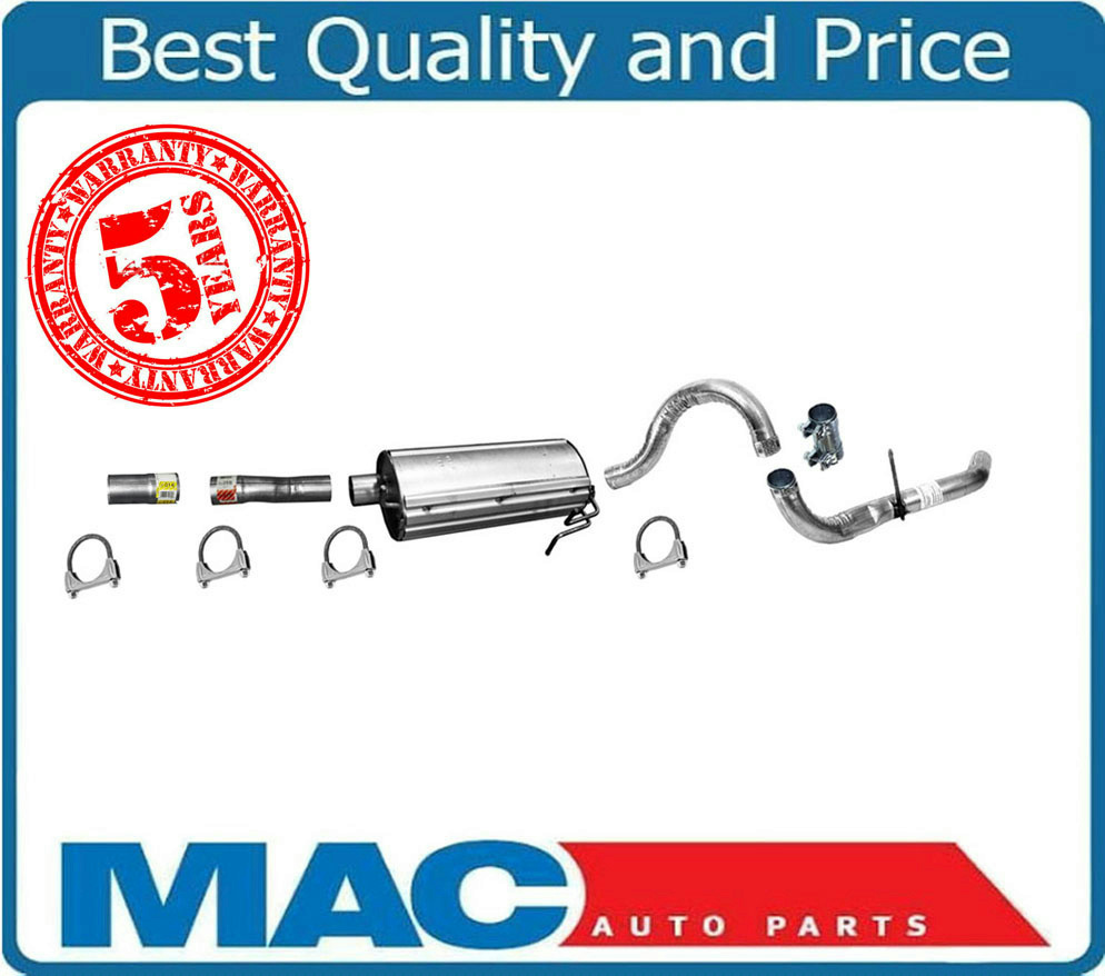 New Muffler /& Tail Pipe with Clamps Fits For Ford F250 /& F350 Super Duty 2 /& 4 Wheel Drive 99 to 04//01//2004