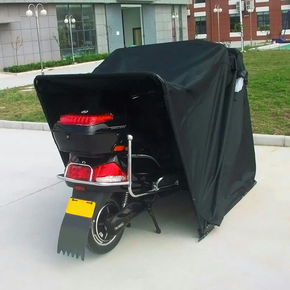 Quictent heavy duty motorcycle shelter shed tourer cover for Motorcycle shed