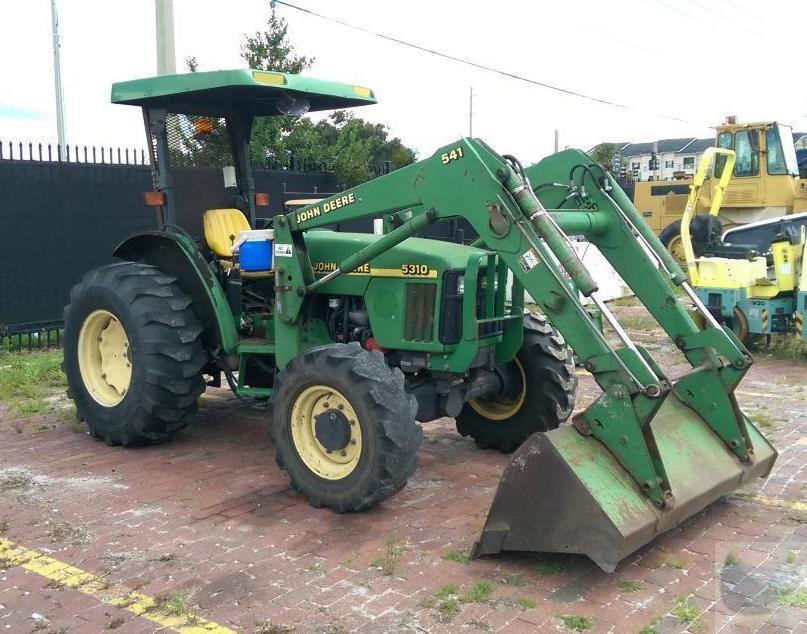 John Deere Bucket Attachments : John deere utility tractor with bucket backhoe