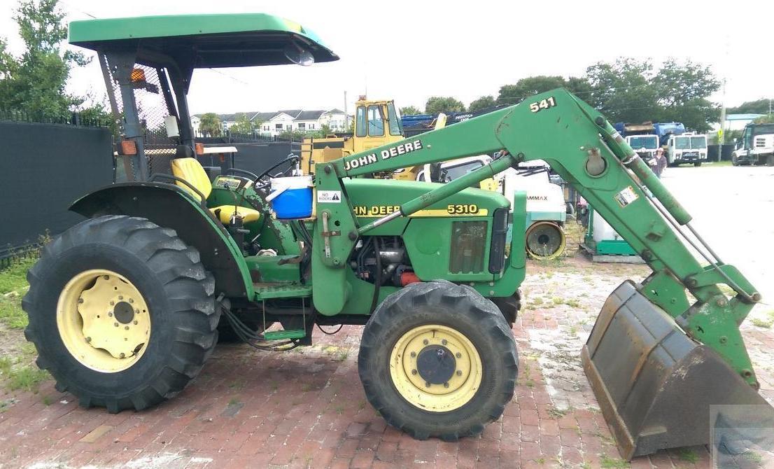 Tractor Bucket Attachments : John deere utility tractor with bucket backhoe