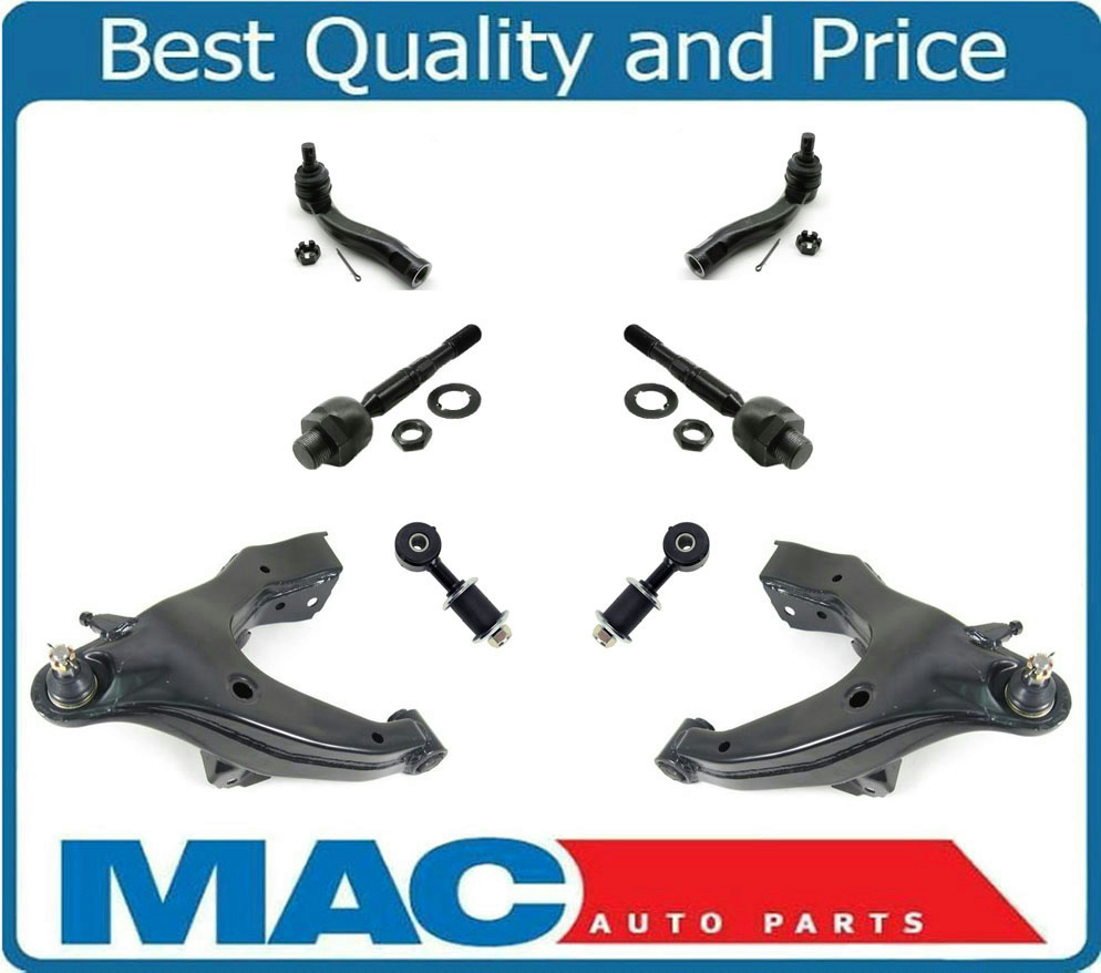 03 07 Lx470 Land Cruiser Lower Control Arms Ball Joints Tie Rods Sway Bar 8pc Ebay