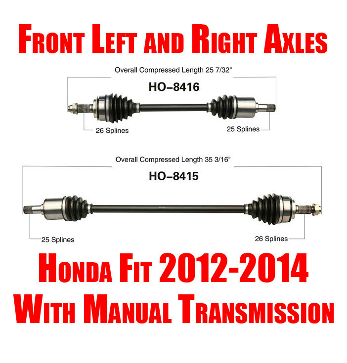 2014 Honda Civic Transmission: Brand New Front Left And Right Axles For Honda Fit Manual