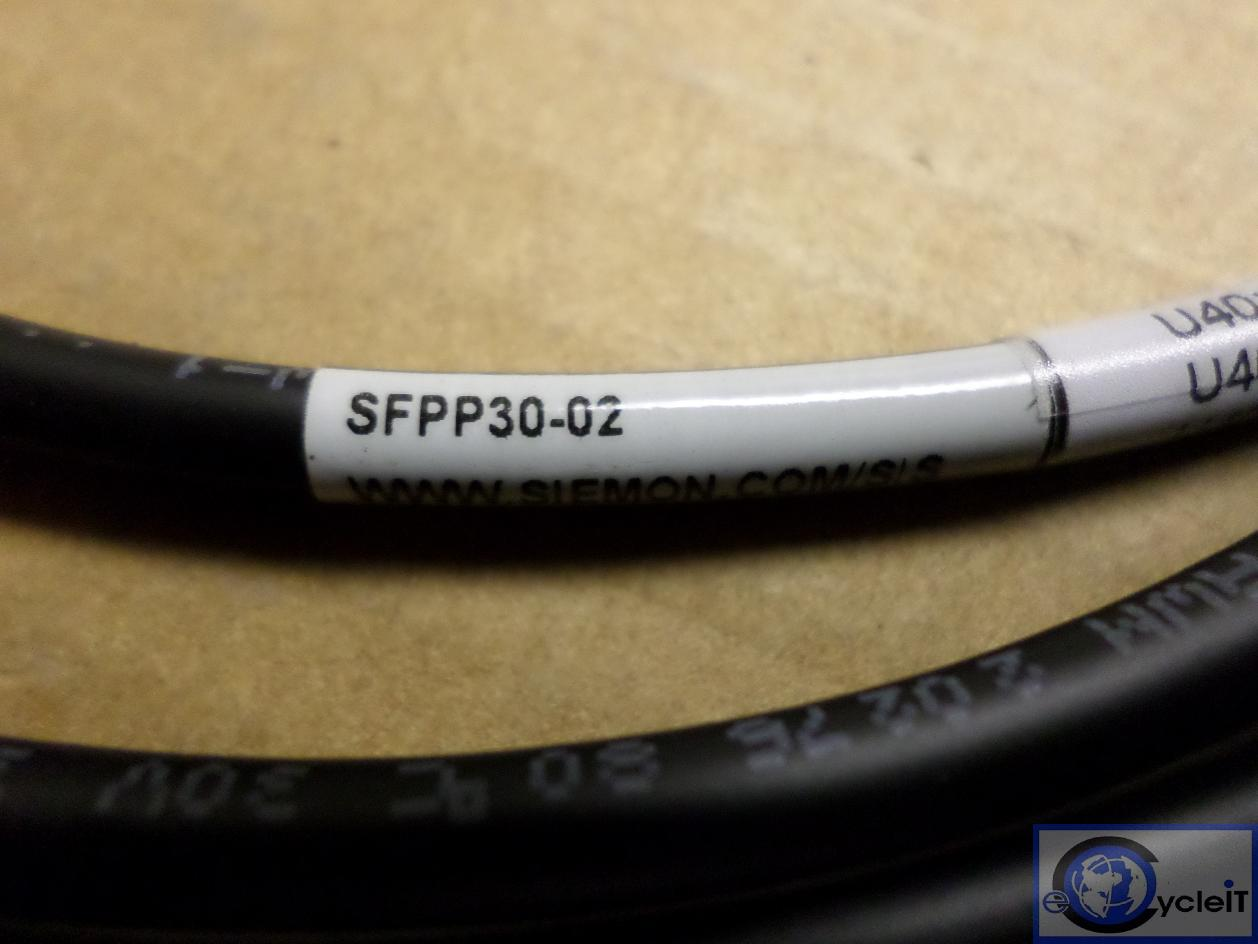 Passive Copper Cable Assembly 10Gb 2m 6.6ft 30 AWG SFPP30-02 Siemons SFP
