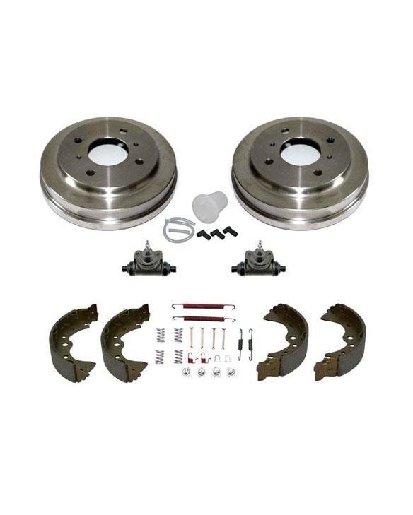 Rear Drums Shoes Springs Wheel Cylinders Bleeding Kit for Toyota Sienna 98-03