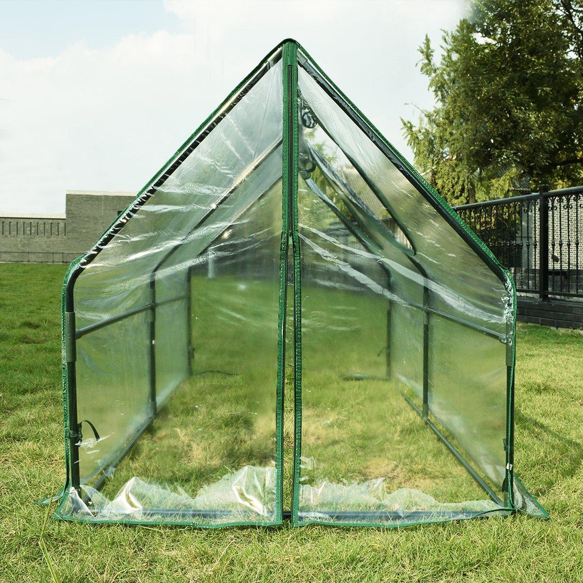 Portable Mini Greenhouse : Peaktop portable multi cloche garden mini greenhouse