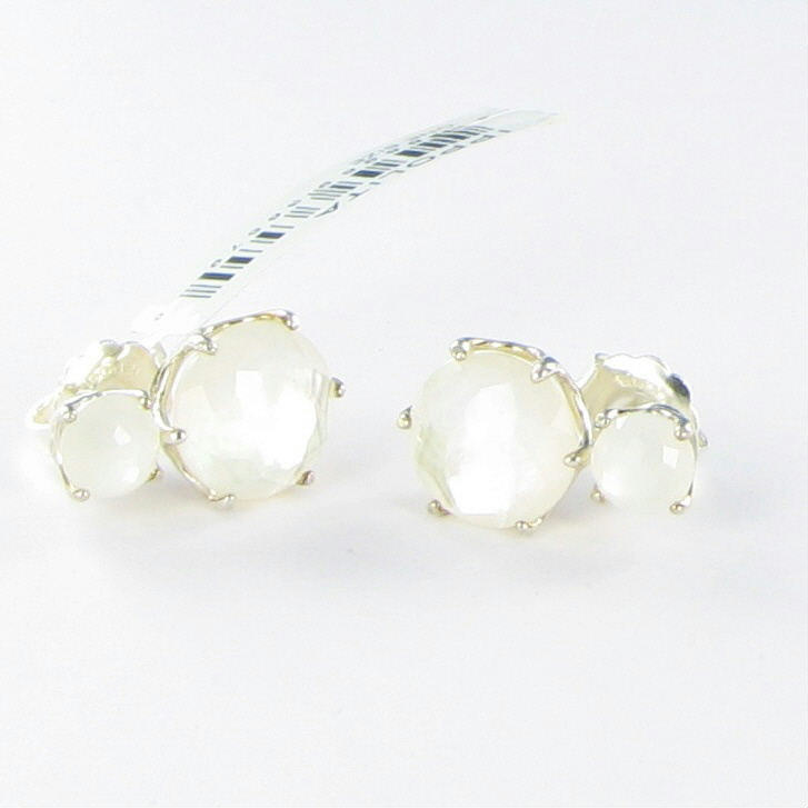 7d60f7346 Details about Ippolita Rock Candy 2 Stone Post Earrings MOP Quartz Doublet  Sterling NWT $795