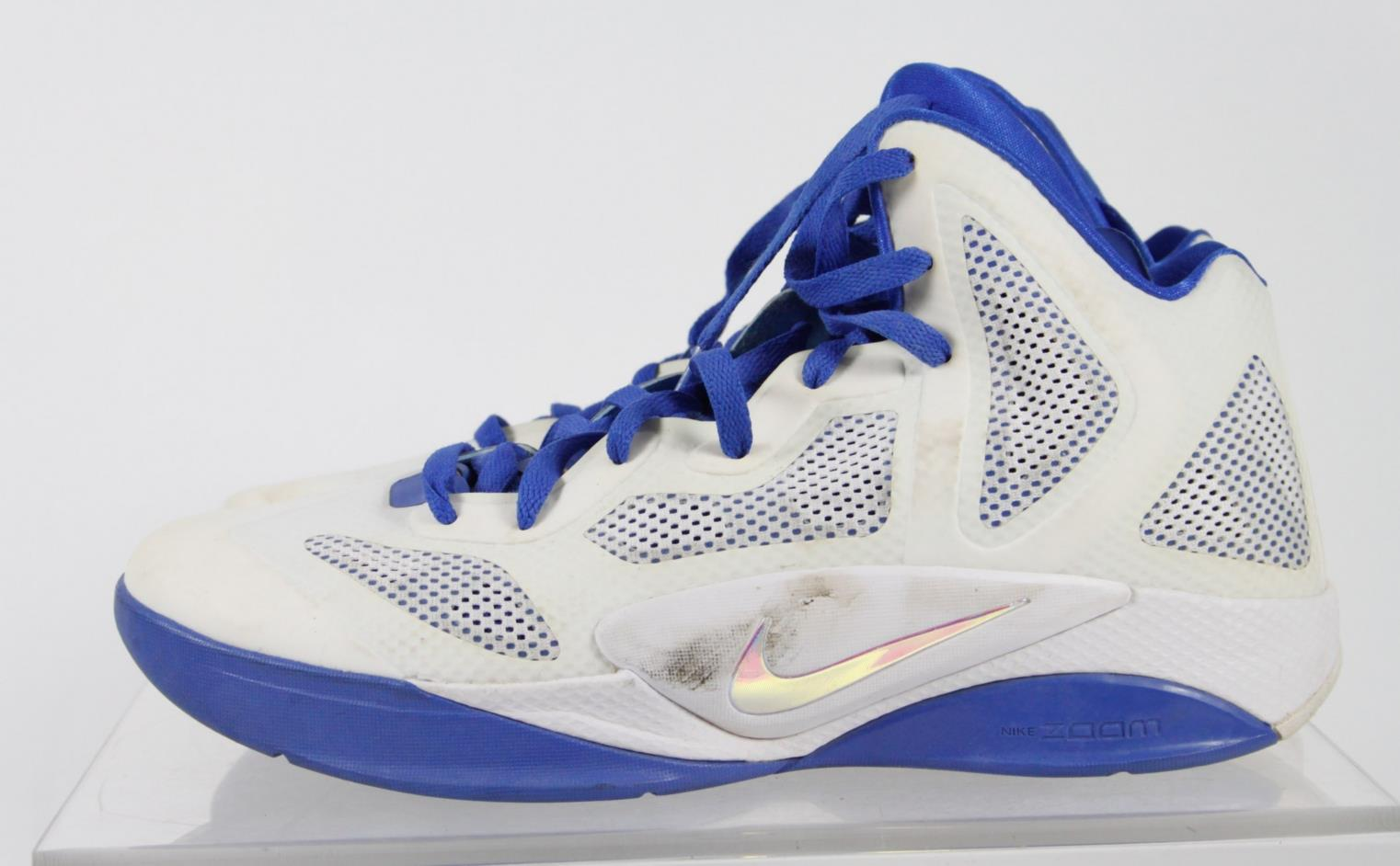 Nike Zoom Hyperfuse White Blue Details High Top Sneakers ...