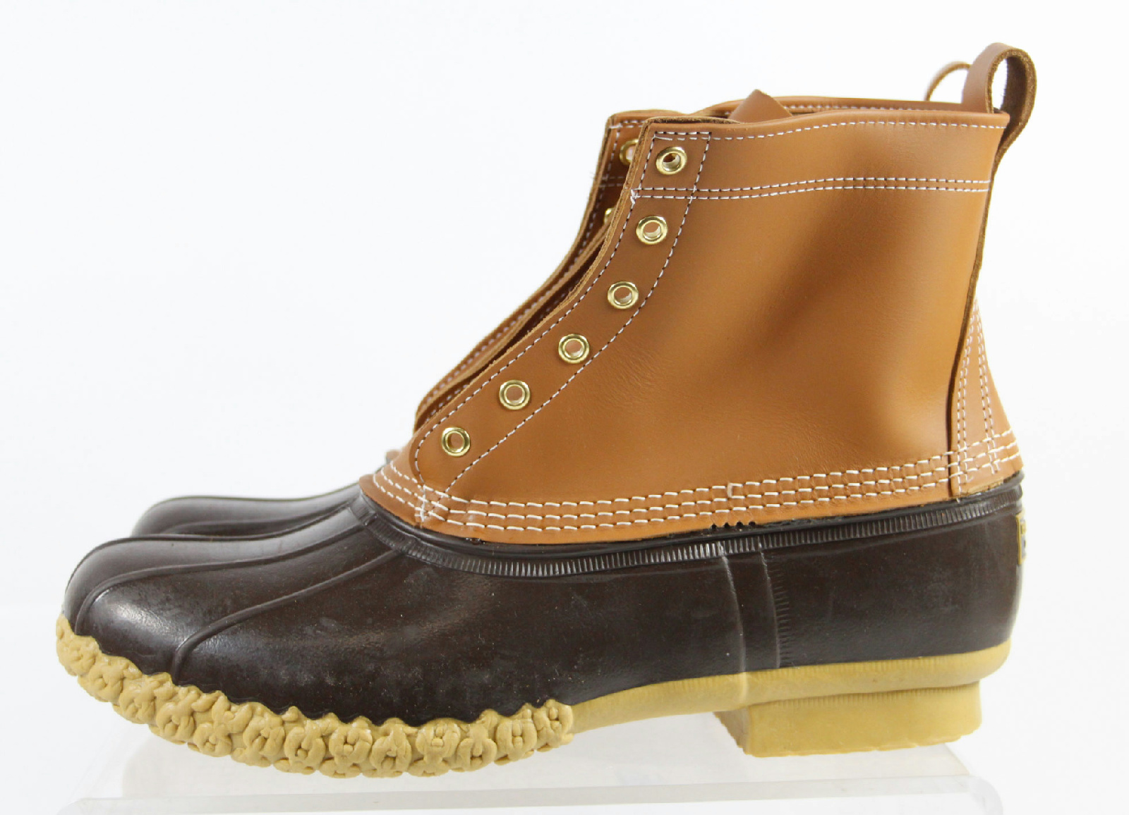l l bean leather two tone combat style trendy waterproof