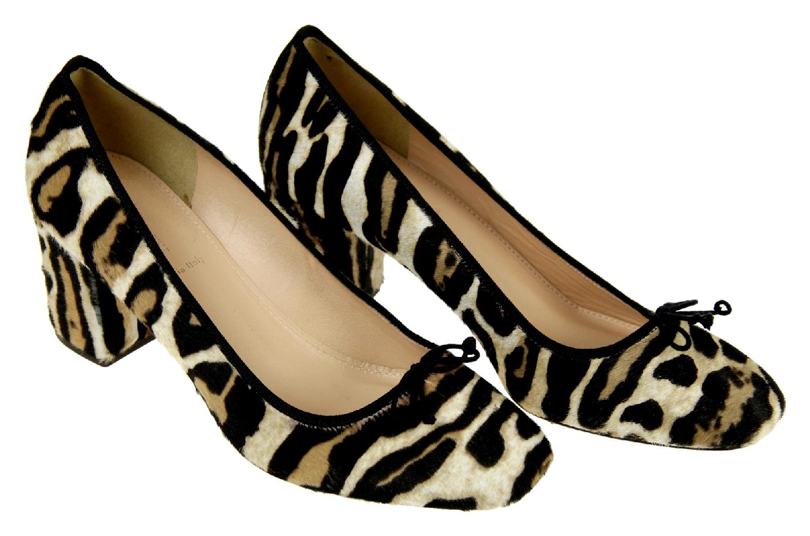 75a556eea71b Details about J Crew Sophia Pumps Heels Shoes Calf Hair 6.5 Tan Black  Leopard Womens F7999