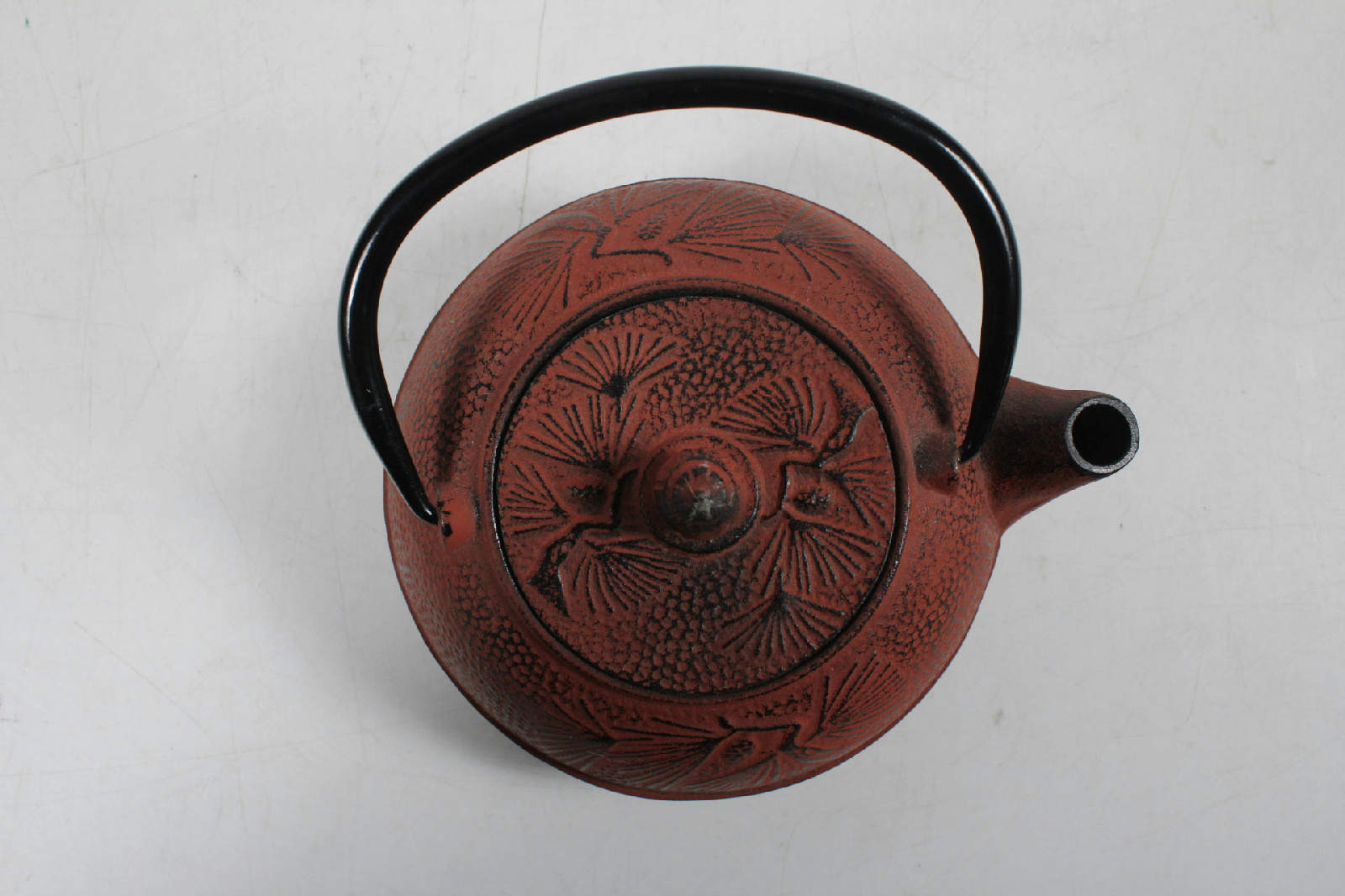 Collectible small japanese cast iron tea pot removable lid with screen strainer ebay - Japanese teapot with strainer ...