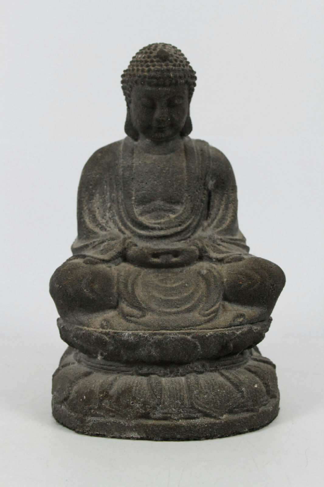 buddha meditating peace tranquility garden zen solid concrete home decor statue ebay. Black Bedroom Furniture Sets. Home Design Ideas