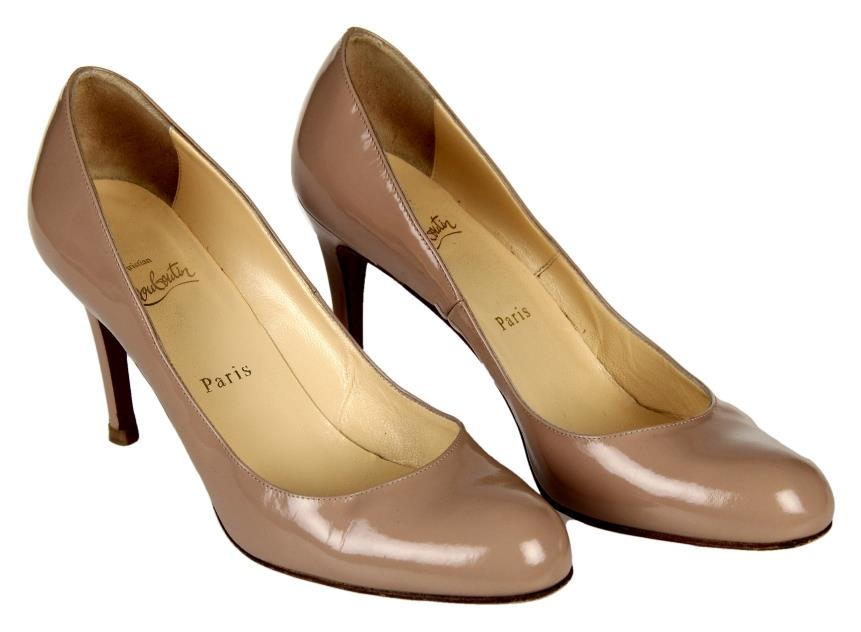Christian Louboutin Simple Patent Pump in Nude Heels Size 39 Worn ...
