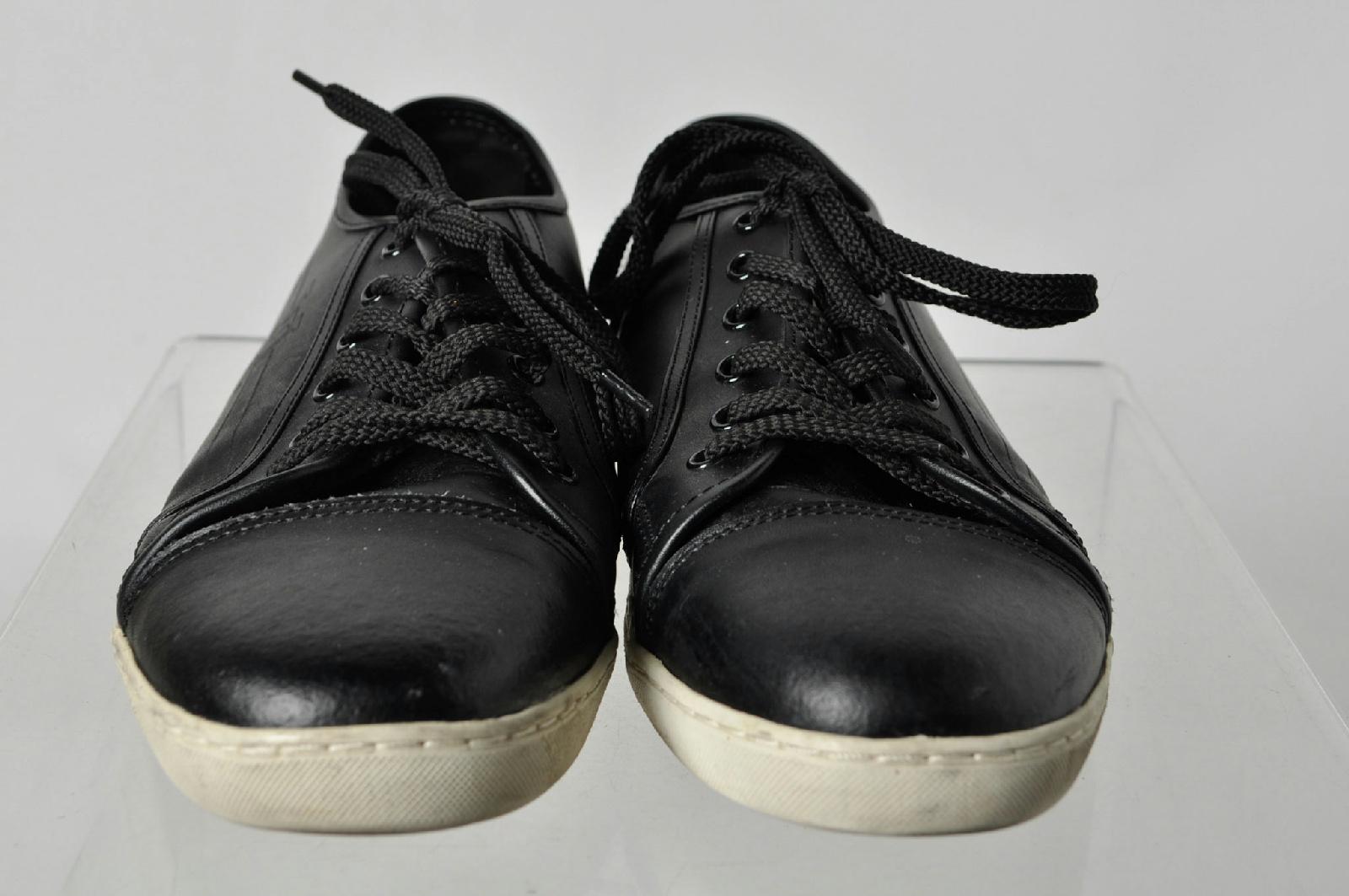 louis vuitton black low top laces s casual shoes size