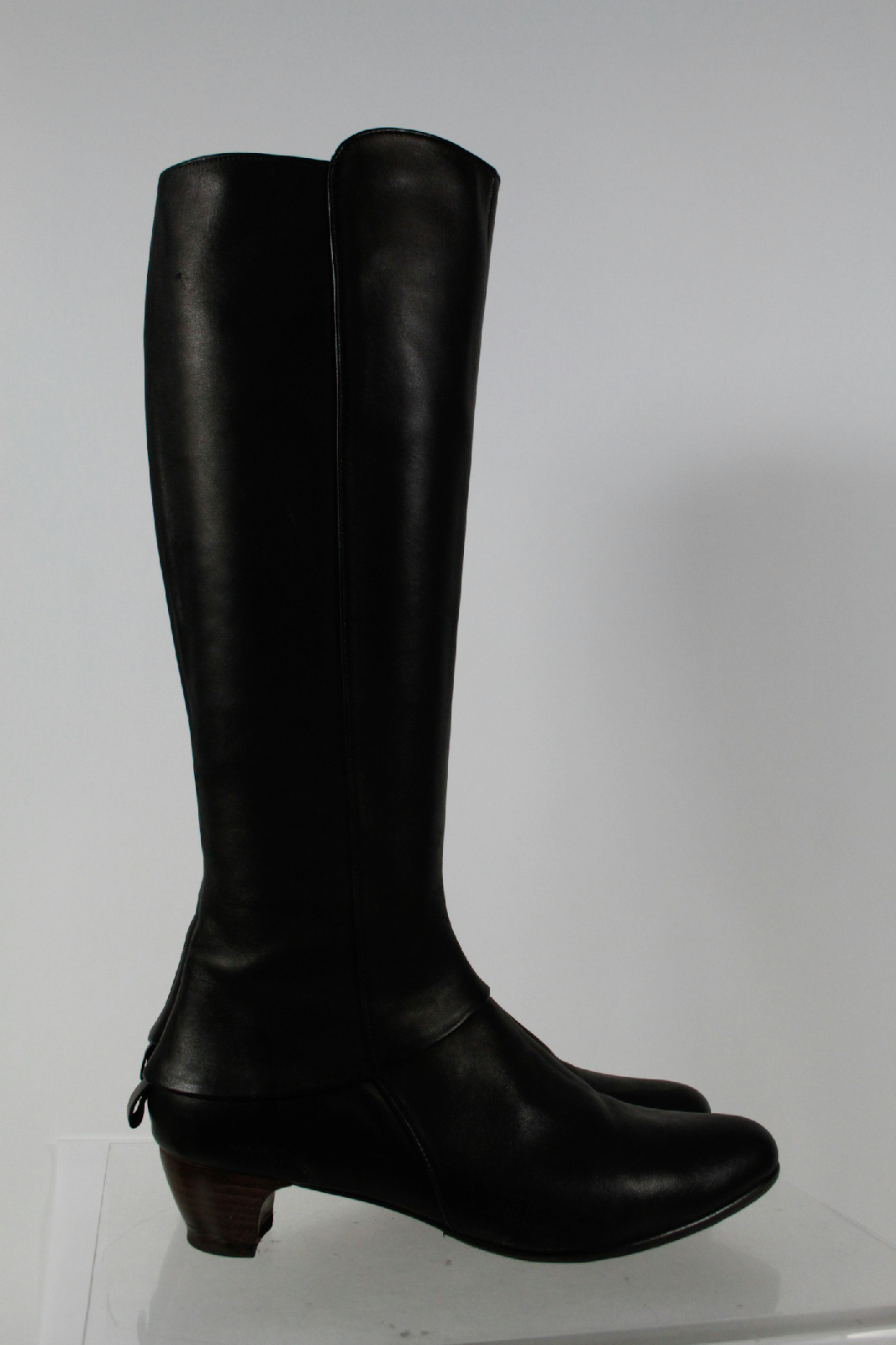coclico black leather knee high boots size 6 5 m ebay
