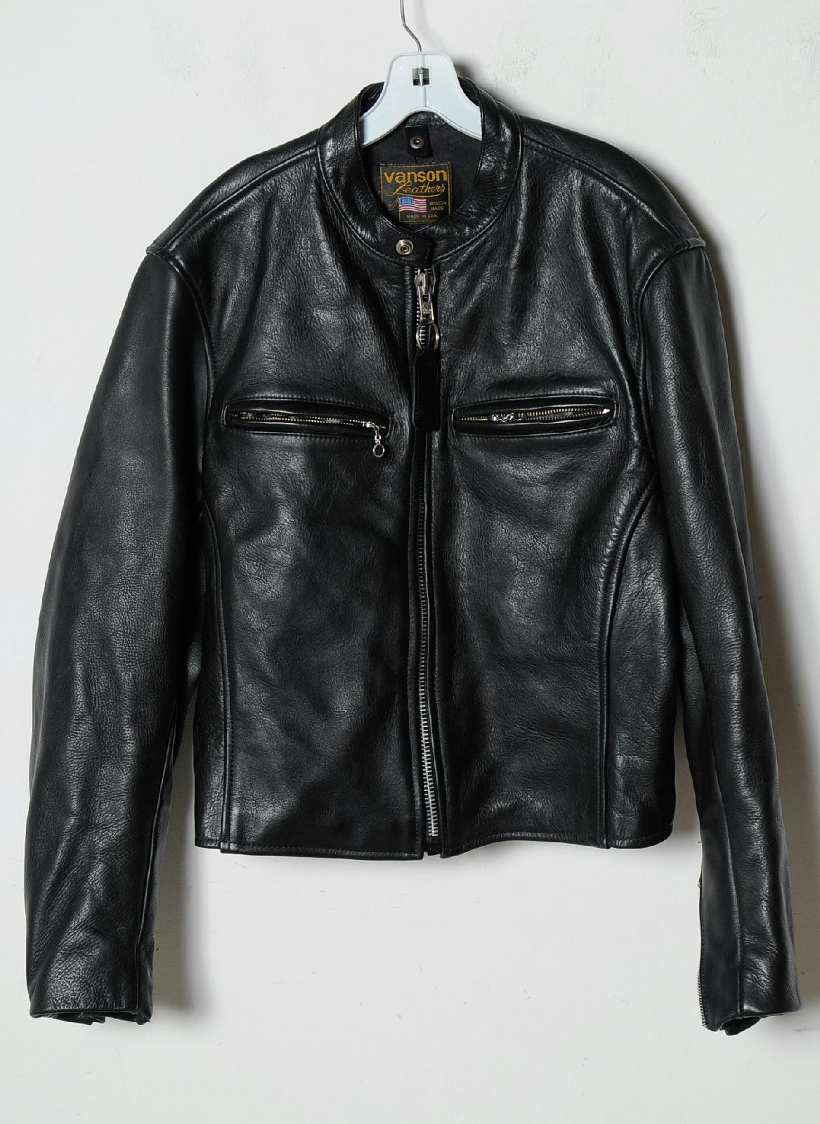 Heavy leather motorcycle jacket