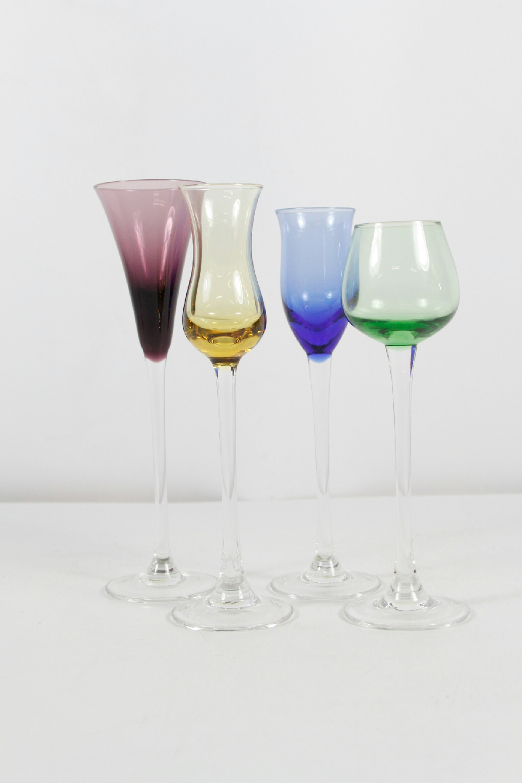 Lenox Set Of 4 Crystal Cordials Assorted Color Wine