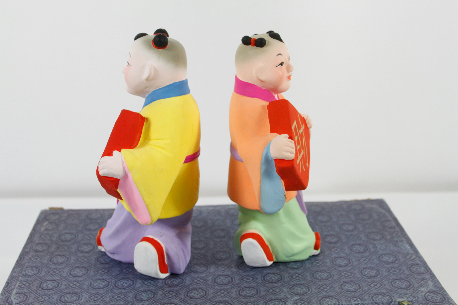 Chinese inch figurines new years good fortune dolls
