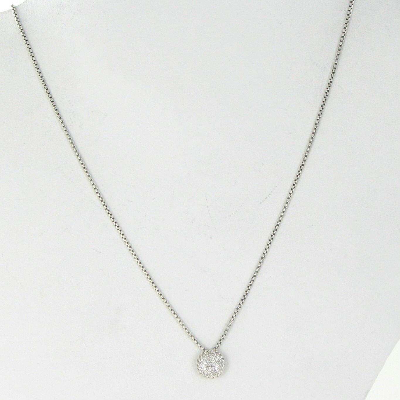 david yurman chatelaine 7mm pave diamond pendant necklace