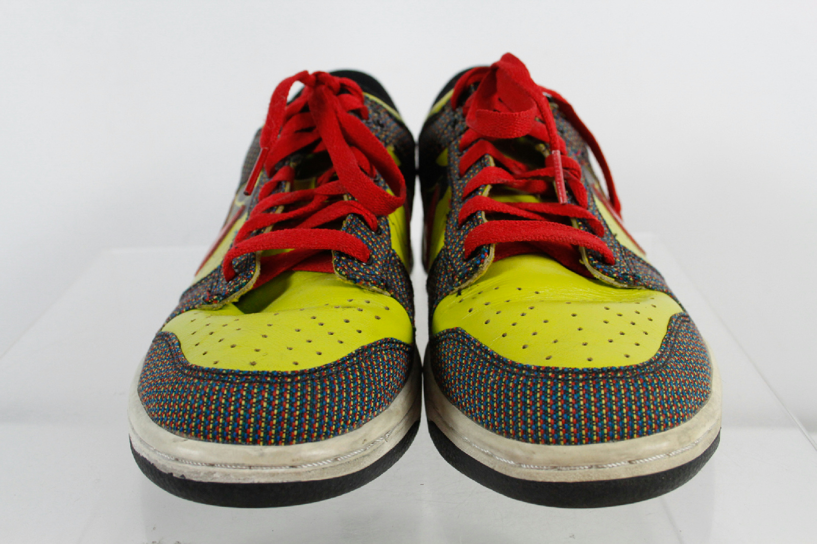 Nike Yellow Red Laces Multi Color Design Low Top Tennis ...