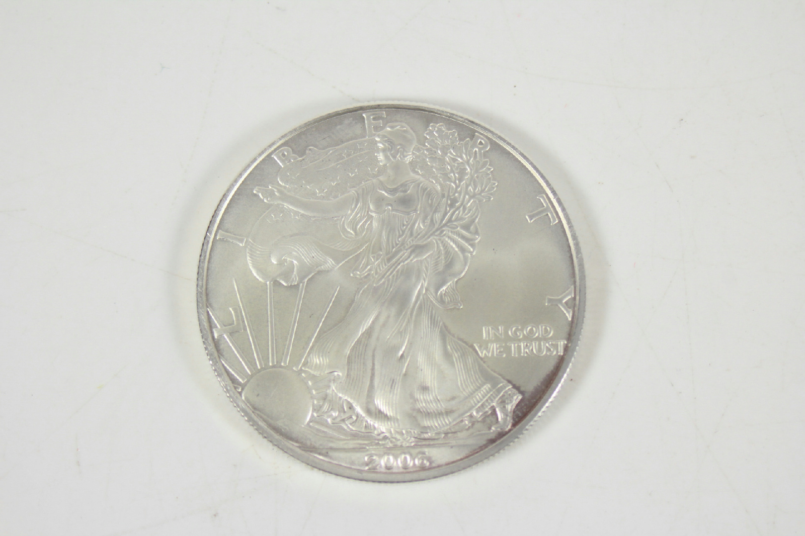 2006 U S Walking Liberty American 1 Oz Fine Silver One