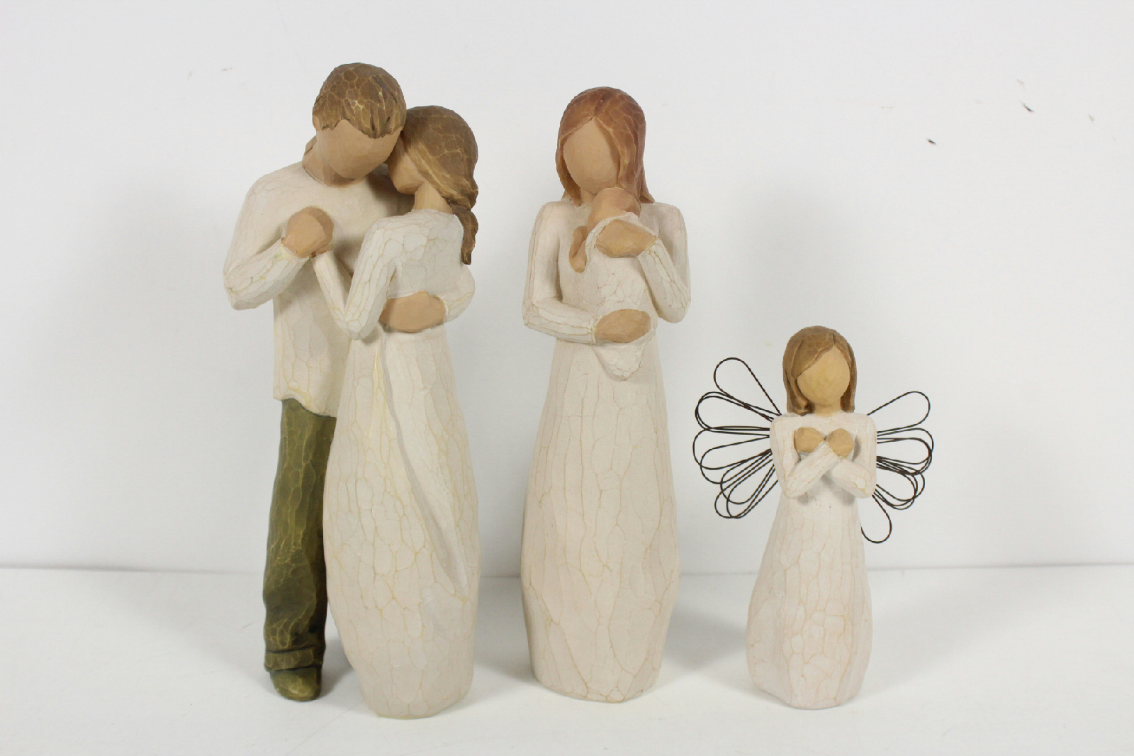 willow tree figurines susan lordi 3 pcs promise sign for. Black Bedroom Furniture Sets. Home Design Ideas
