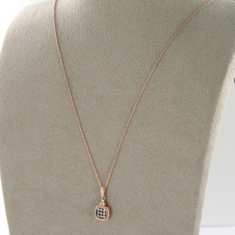 Le Vian Petite Cushion Pave Pendant Choco Vanilla Diamond