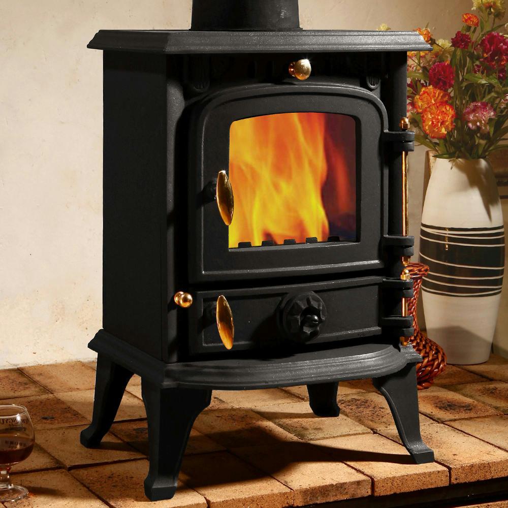 5 5 Kw Cast Iron Burner Multifuel Wood Burning Stove Air