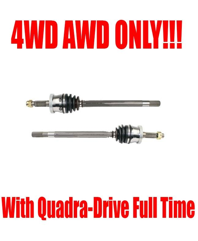 Pair 2 New Front CV Axles Fit 04-99 Jeep Grand Cherokee  Quadra Drive