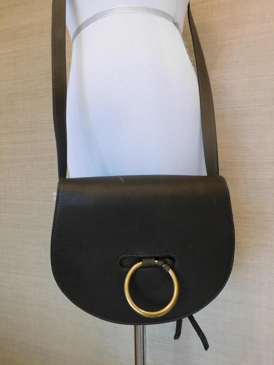 80c25280c18d Madewell The Lisbon O-Ring Saddlebag Purse Tote  178 TGR green leather bag  f6851