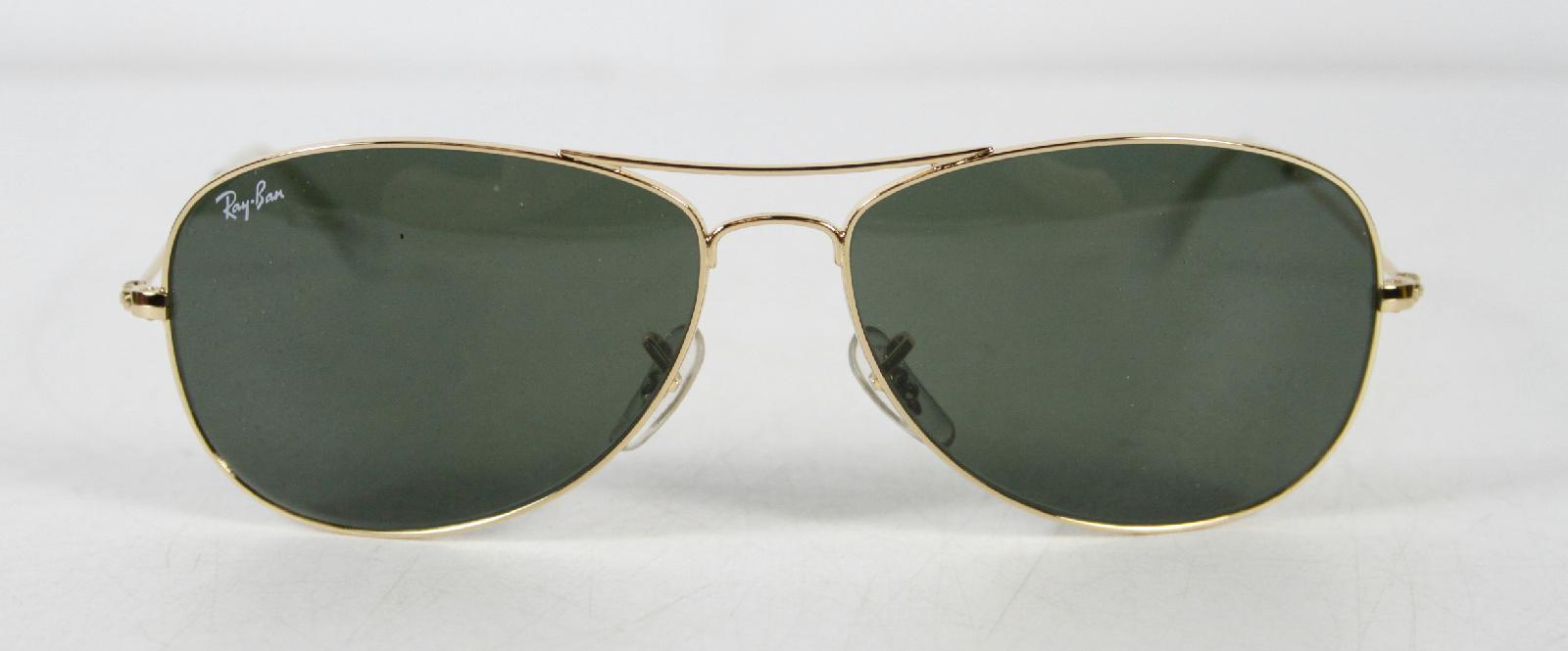 Aviator Sunglasses Gold Frame Black Lens : Ray Ban Gold Frame Green Lens Pilot Sunglasses Black Case ...
