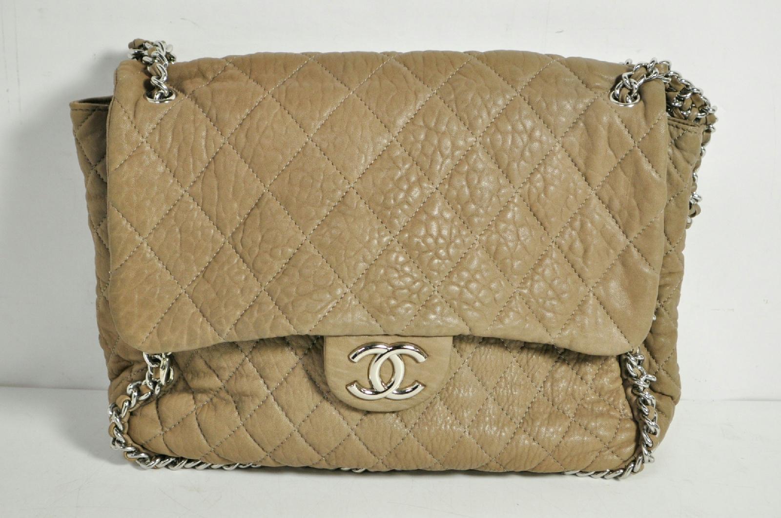 bf03ad8c904d Chanel Beige Lambskin Handbag   Stanford Center for Opportunity ...