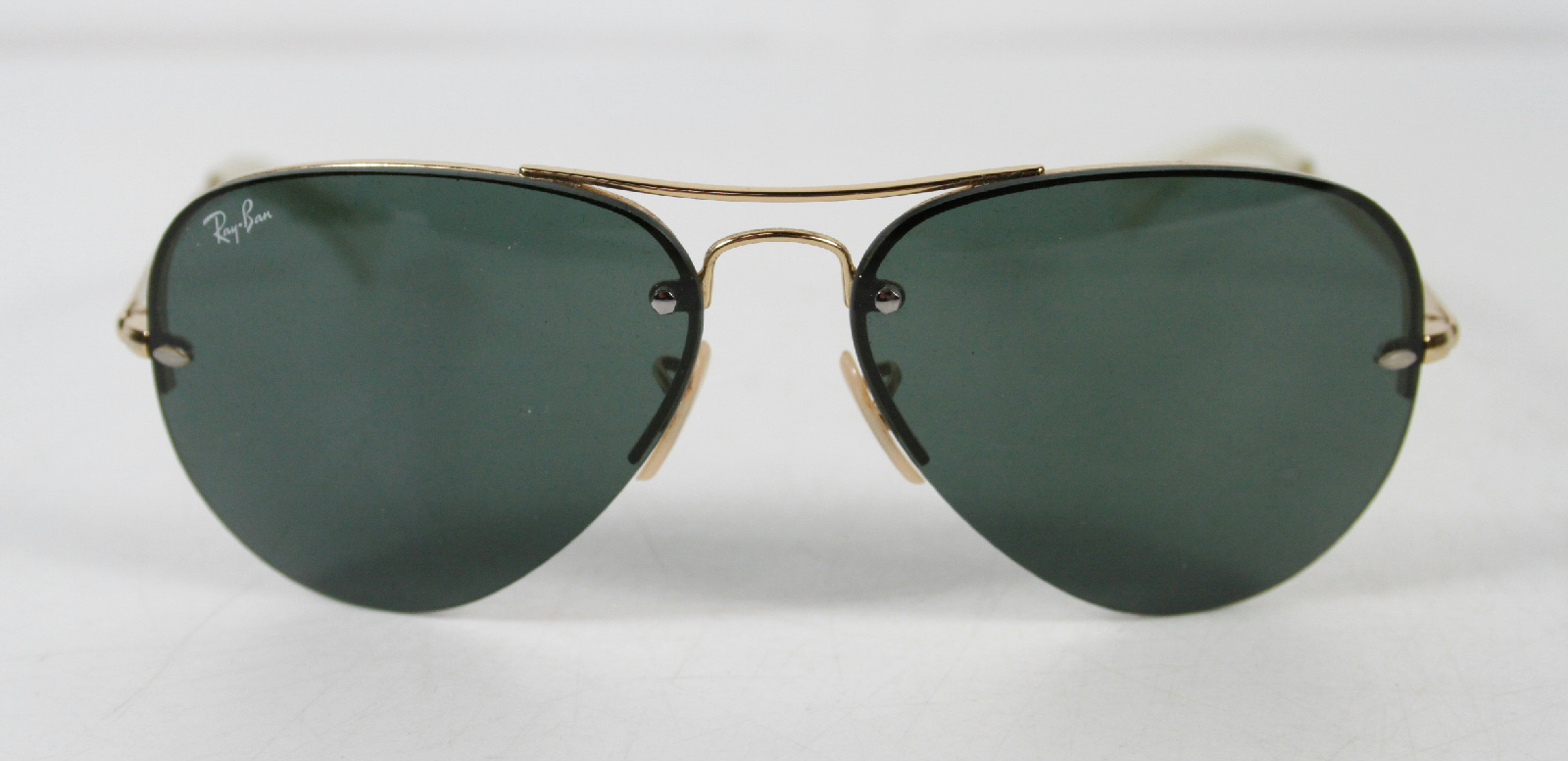 Gold Frame Aviator Sunglasses : Ray-Ban RB3449 Gold Frame Blue Lens Aviator Sunglasses eBay